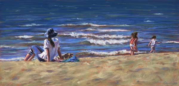Beach Time, Pastel