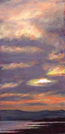 Beauly Firth Sunset, Pastel
