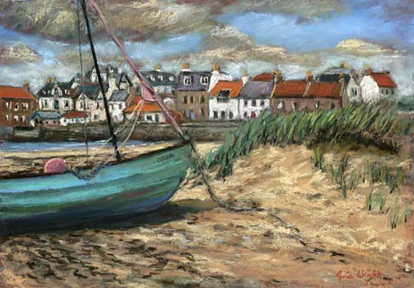 Boat And Dunes, Elie