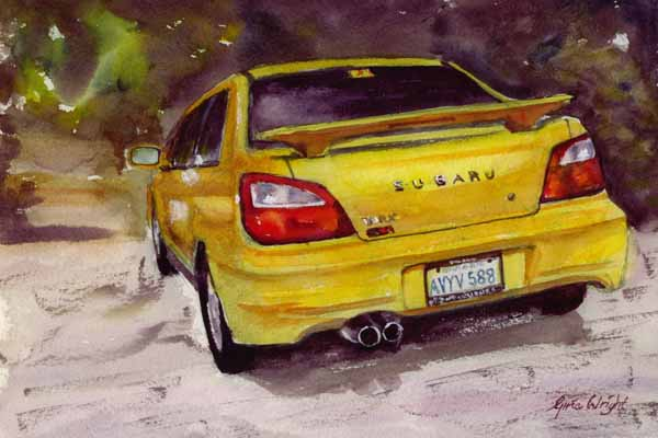 Colin's Subaru, Watercolour
