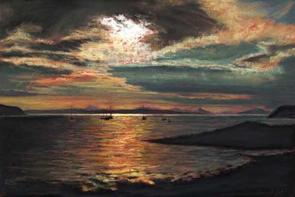 Evening Light, Pastel
