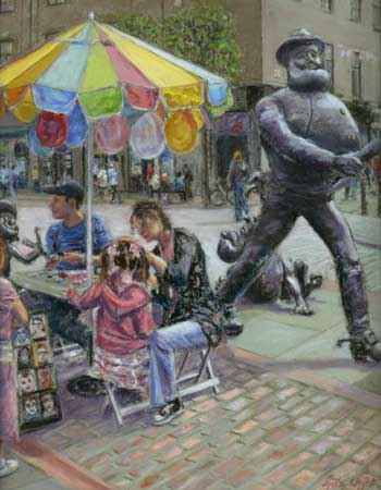 Face Painting with Desperate Dan, Pastel