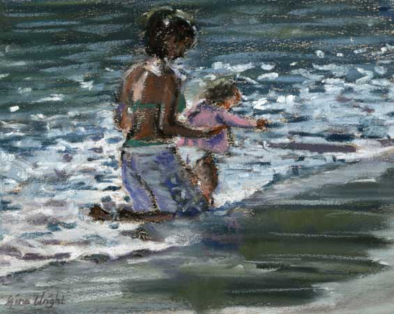 First Paddle, Pastel