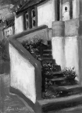 Flowers And Steps