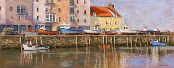 Harbour Reflections, St. Andrews, Pastel