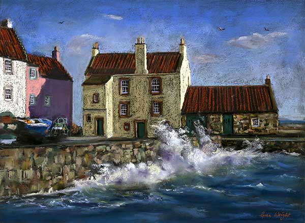 High Tide, The Gyles, Pastel