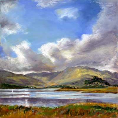 Loch Sunart, Pastel on Panel