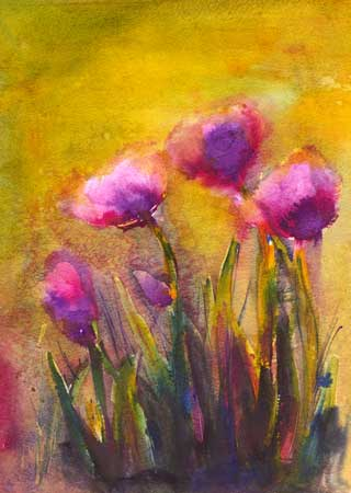 Poppies, Mixed Media