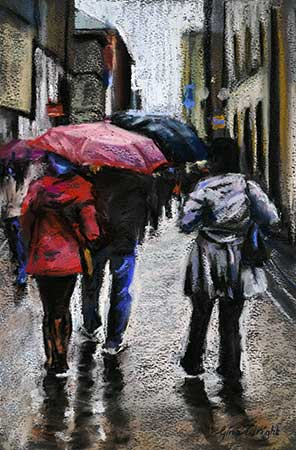Rose Street, Umbrellas, Pastel