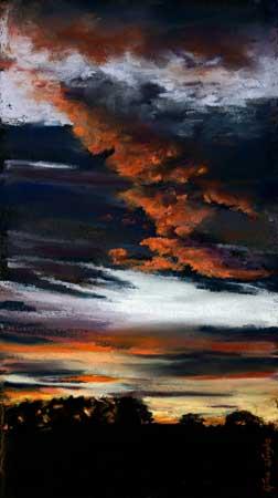September Sky, Pastel