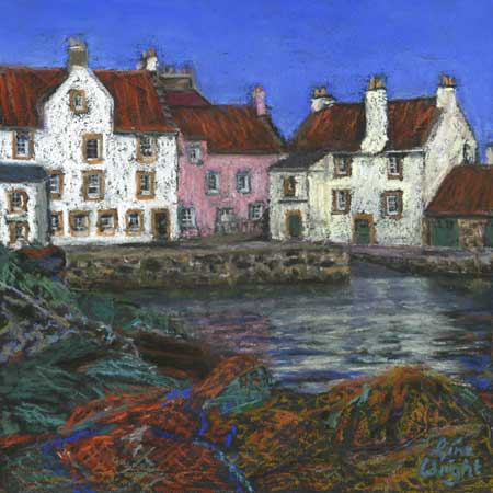 The Gyles, Pittenweem, Pastel
