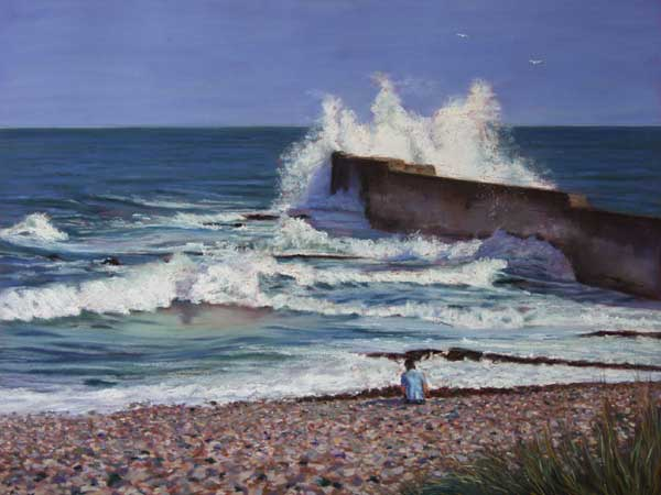 The Wave, Auchmithie, Pastel