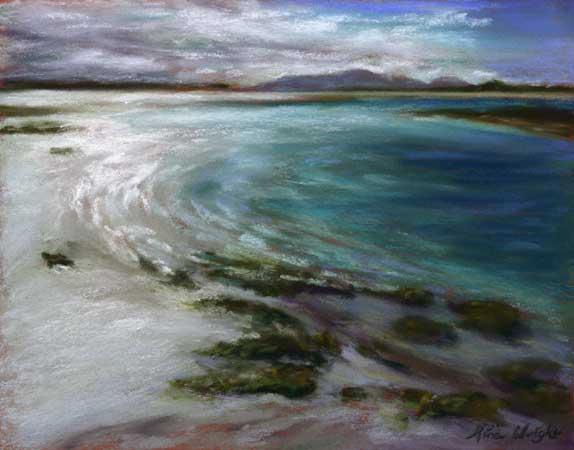 Turquoise Sea, Western Isles, Pastel