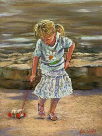Walking The Wooden Dog, Pastel