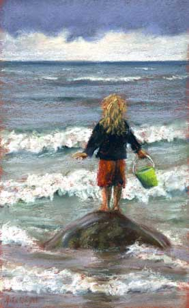 Watching The Waves, Pastel