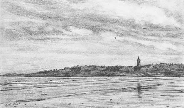 Study for West Sands, St. Andrews, Pencil