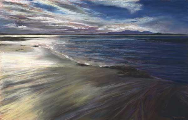 Windswept Beach, Western Isles, Pastel